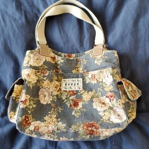 Bongo floral soft corduroy purse